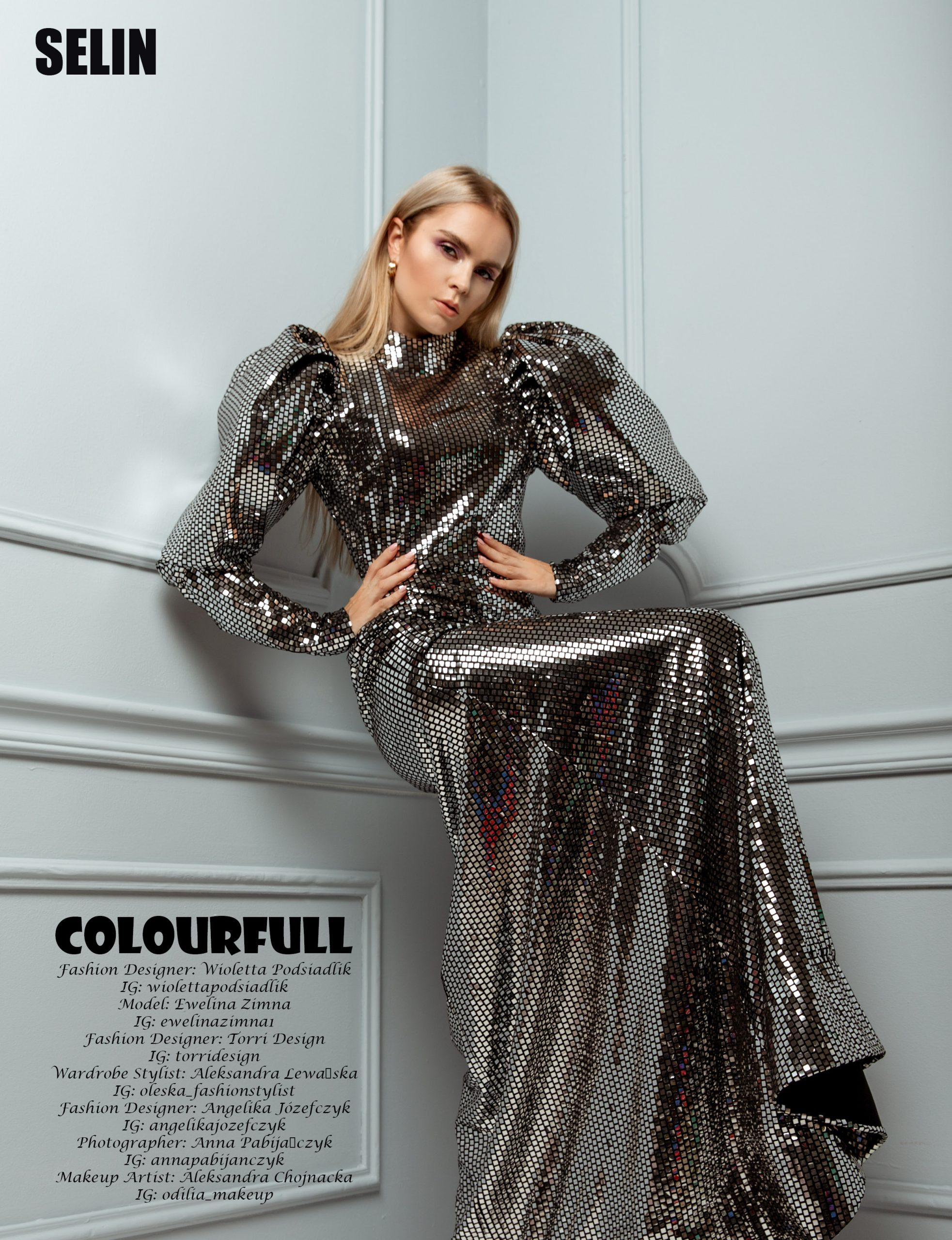 Mirror Dress in Selin magazine